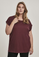 Urban Classics Female Shirt Ladies Extended Shoulder Tee Redwine
