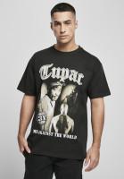 Mister Tee T-Shirt Tupac MATW Sepia Oversize Tee Black