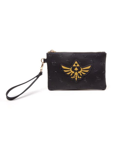 Zelda Golden Tri-Force Logo Pouch Wallet Black