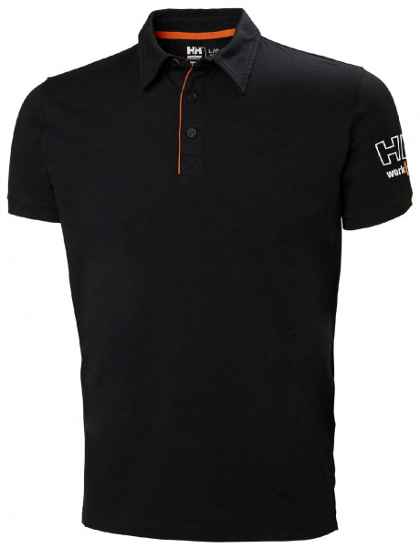 Helly Hansen T-Shirt 79241 Kensington Polo 990 Black