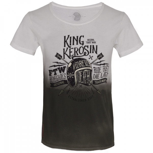 King Kerosin T-Shirt Ride Fast Die Last White
