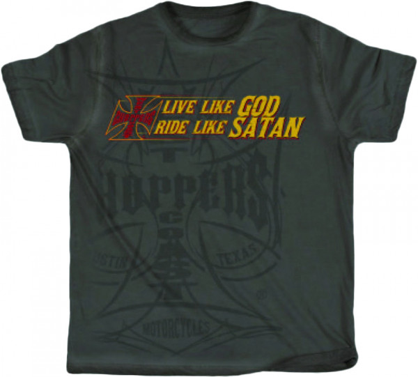 WCC West Coast Choppers T-Shirt Ride Like Satan