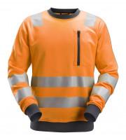 Snickers AllroundWork Hi-Vis Sweatshirt, Kl. 2/3, EN 20471 High-Vis Orange