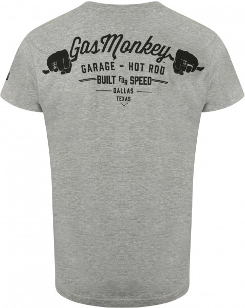 Gas Monkey Garage T-Shirt Hands Grey