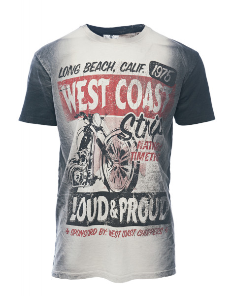 WCC West Coast Choppers T-Shirt The Strip Washed Black