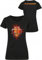 Rammstein Female Shirt Rammstein Ladies Lava Logo Tee Black