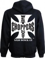 WCC West Coast Choppers Hoodie Iron Cross Zipper schwarz