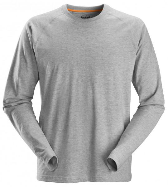 Snickers AllroundWork langarm Baumwoll-Shirt Grau