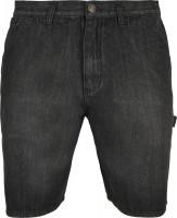 Urban Classics Carpenter Jeans Shorts Real Black Washed