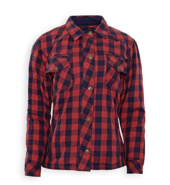 Bores Female Lumberjack Damen Jacke Hemd in Holzfäller Optik Red-XS