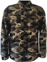 Bores Aramid-Motorradhemd Military-Jack Army Dunkel-Camouflage