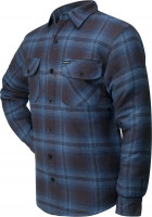 Lucky 13 T-Shirt Shocker Lined Flannel Blue/Black