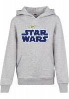 Mister Tee Kids Star Wars Blue Logo Hoody heather heather grey