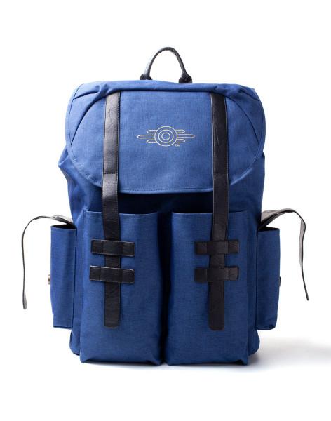 Fallout Rucksack Fallout 76 - Gold Foil Logo Printed Solid Blue Melange Backpack Blue