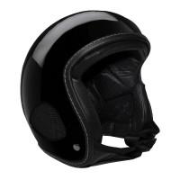 Bores Helm SRM Slight 4 Finale Jethelm mit Leder Innenfutter glänzend Schwarz
