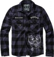 Brandit Men Hemd Motörhead Checkshirt Black-Grey