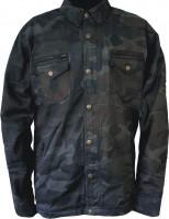Bores Aramid-Motorradhemd Military-Jack Army Schwarz-Camouflage