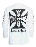 WCC West Coast Choppers Longsleeve Original Cross White