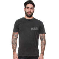 Lucky 13 T-Shirt Skull Built Tee Washed Black