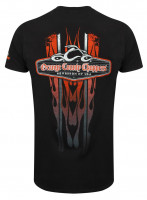 OCC Orange County Choppers T-Shirt Vertical Flame Black