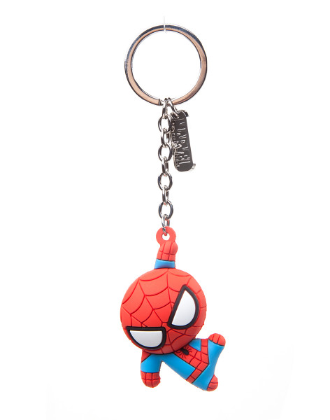Marvel Kawaii Art Collection Keychain Character 3D Rubber Red