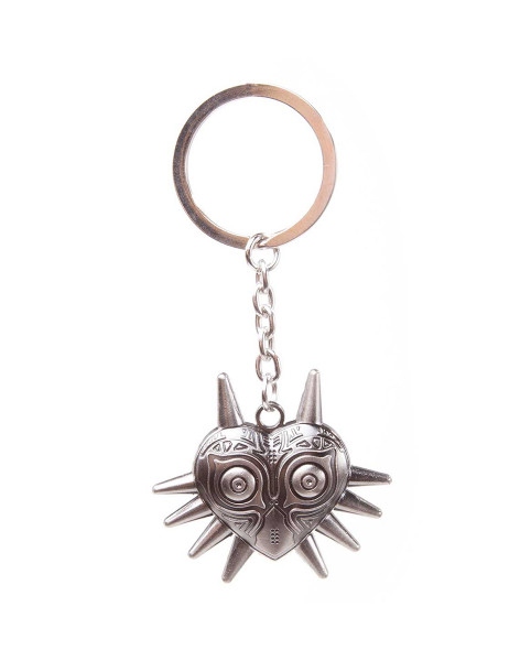 The Legend of Zelda Keychain Majora's Mask - Metal Silver