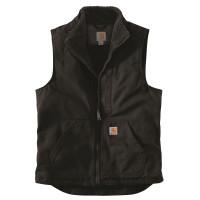 Carhartt Weste Washed Duck Lined Mock Neck Vest Black