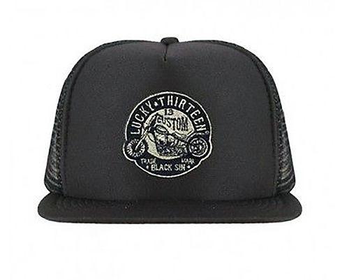 Lucky 13 Cap Black Sin Foam Mesh Trucker Cap Black