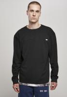 Urban Classics Sweatshirt Organic Cotton Short Curved Oversized LS Black