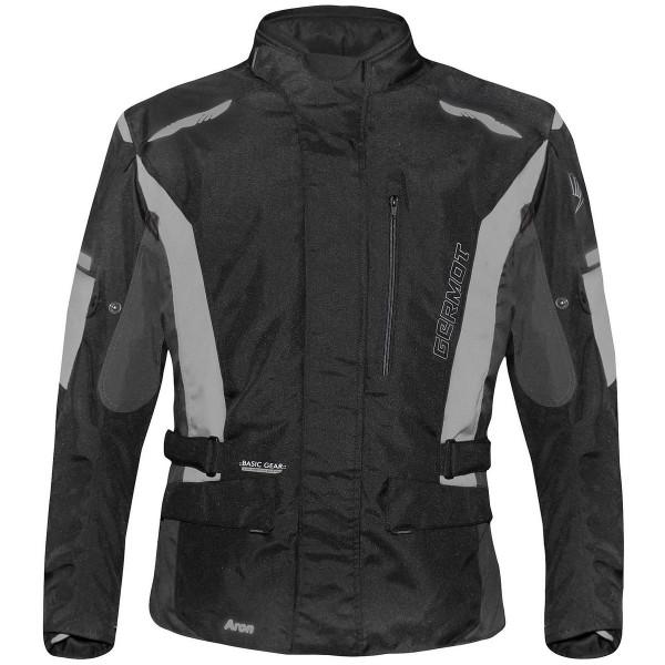 Germot Herren Motorrad Jacke Textiljacke Aron Schwarz/Grau