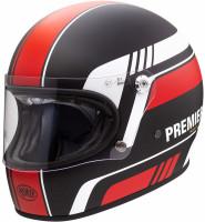 Premier Retro Integralhelm Trophy BL92 BM Black/Red/White Matt