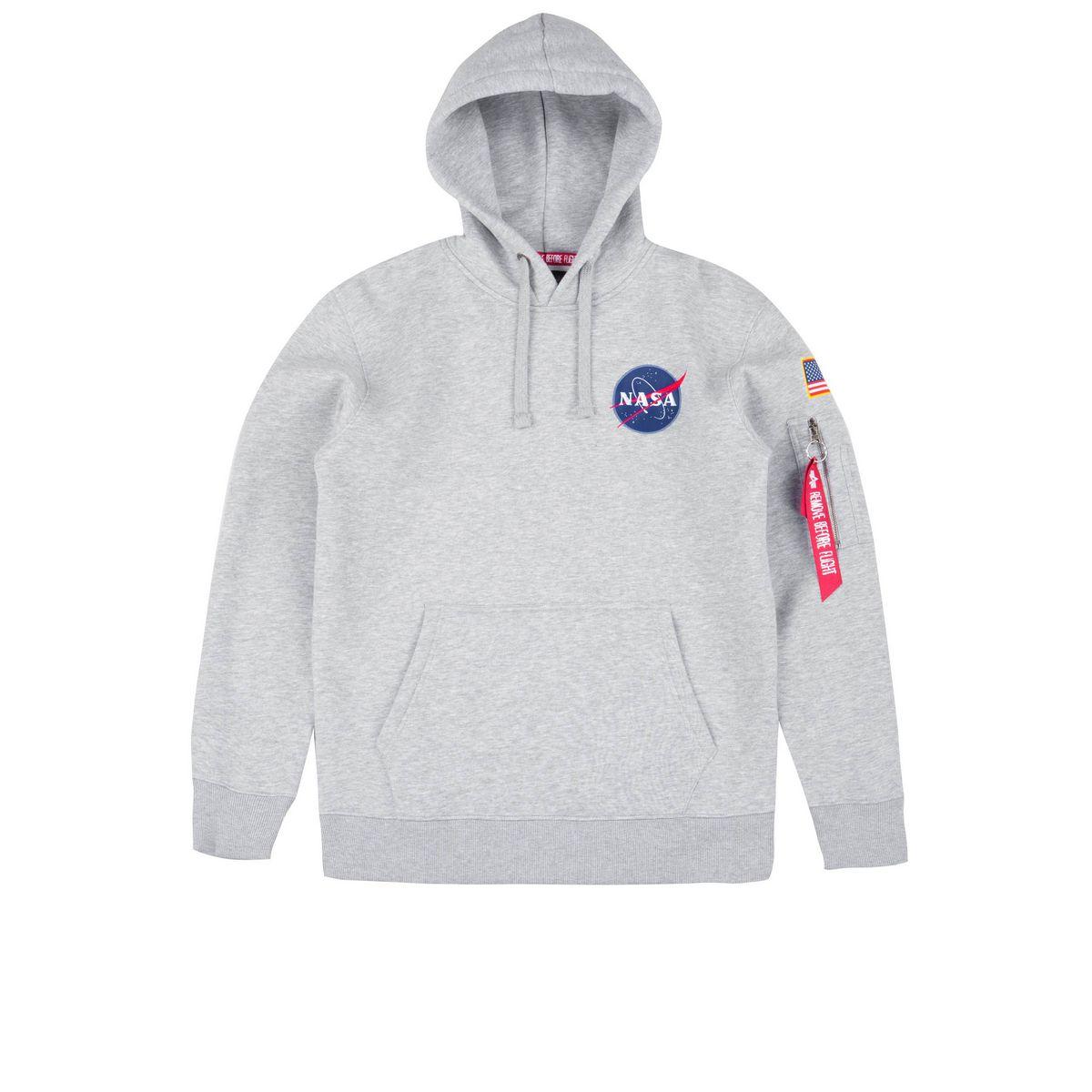 Alpha Industries Space Shuttle Hoody Hoodies Sweatshirts Grey Heather