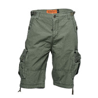 WCC West Coast Choppers Cargo Short Caine Ripstop Olive Green
