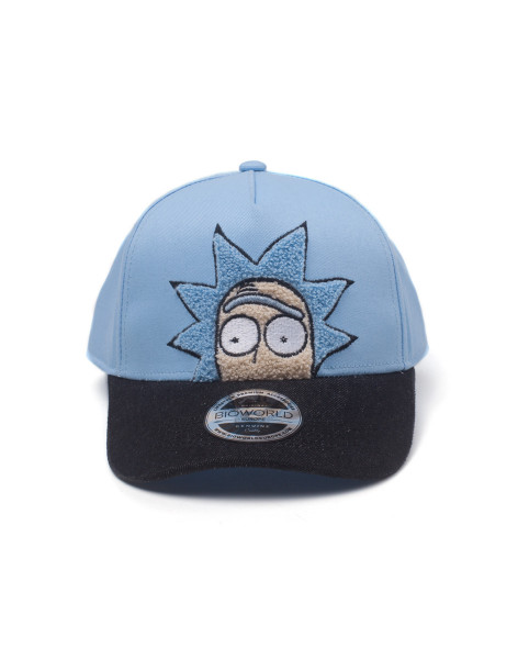 Rick and Morty Cap Rick Chenille 2D Embroidery Curved Bill Blue