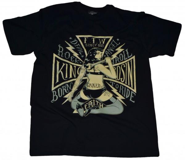 King Kerosin T-Shirt Born To Ride Black
