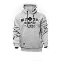 WCC West Coast Choppers Hoodie Motorcycle Co. Hoody Grey