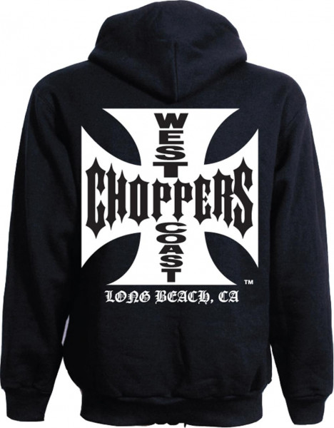 WCC West Coast Choppers Hoodie Iron Cross schwarz