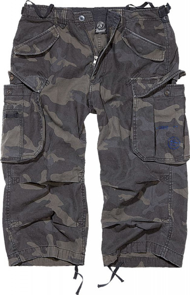 Brandit Shorts Industry Vintage 3/4 in Darkcamo