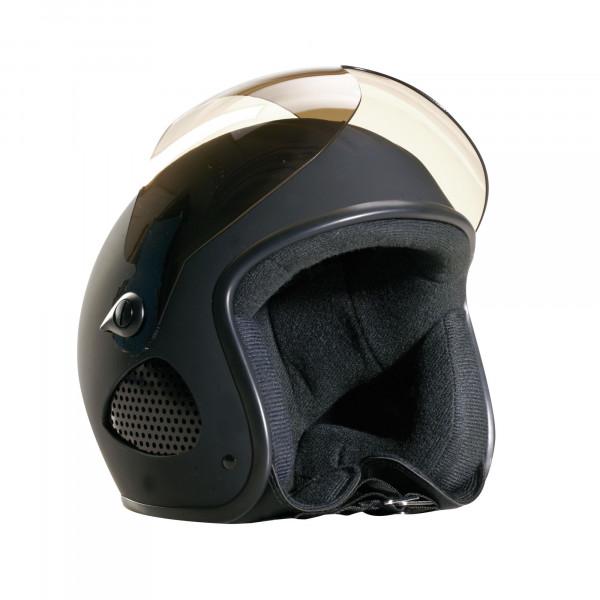 Bores Helm SRM Slight 1 Jethelm mit Visier u. Textil Innenfutter matt Black