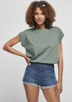 Urban Classics Damen T-Shirt Ladies Extended Shoulder Tee Paleleaf