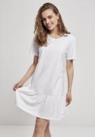 Urban Classics Damen Kleid Ladies Valance Tee Dress White