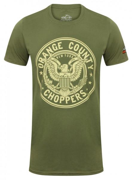 OCC Orange County Choppers T-Shirt Eagle Military Green