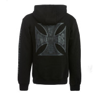 WCC West Coast Choppers Hoodie Og Black Label Zip Hoody Black