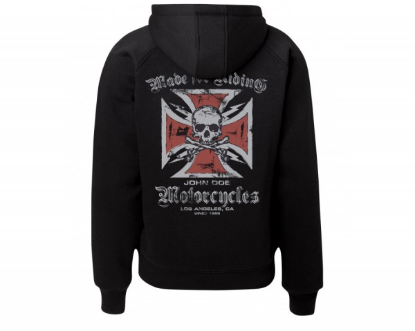 John Doe Hoodie Cross Zip Black