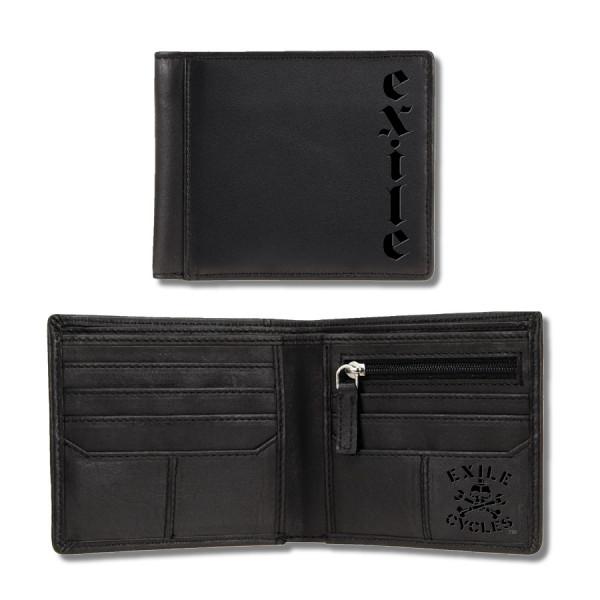 Exile Wallet Portemonnaie Leather Wallet with Debossed Logo Black