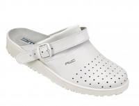 AWC Footwear Berufsschuhe Sandale gelocht mit neuem Ristpolster in Weiß/Aubergine