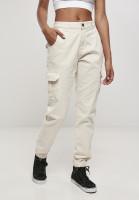 Urban Classics Damen Hose Ladies High Waist Cargo Pants Whitesand