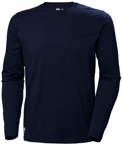 Helly Hansen T-Shirt 79169 Manchester Long Sleeve 590 Navy