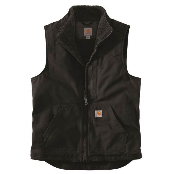 Carhartt Weste Washed Duck Lined Mock Neck Vest Black