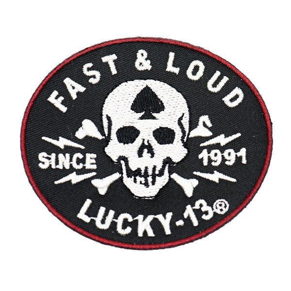 Lucky 13 Patch Fast Loud Patch Black